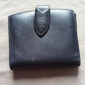 Vintage Coach Pebbled Leather Snap Closure Wallet
